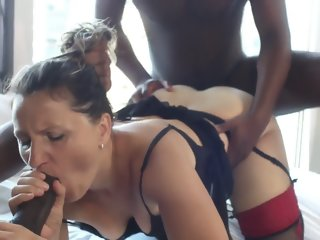 Wife BBC gangbang ends with..