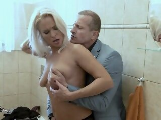 Blonde cougar MILF gets a..