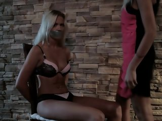 Busty blonde fucks hard with..