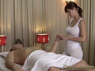 Sexy massage from cute busty..