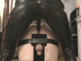 Domina fucks him with strapon